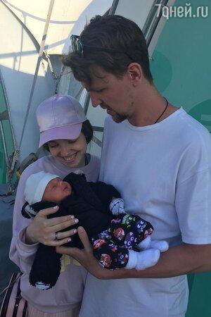 Сестра Александра Сёмина с мужем и сыном